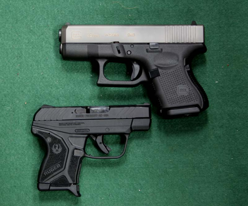 Glock 26 and Ruger LCP II