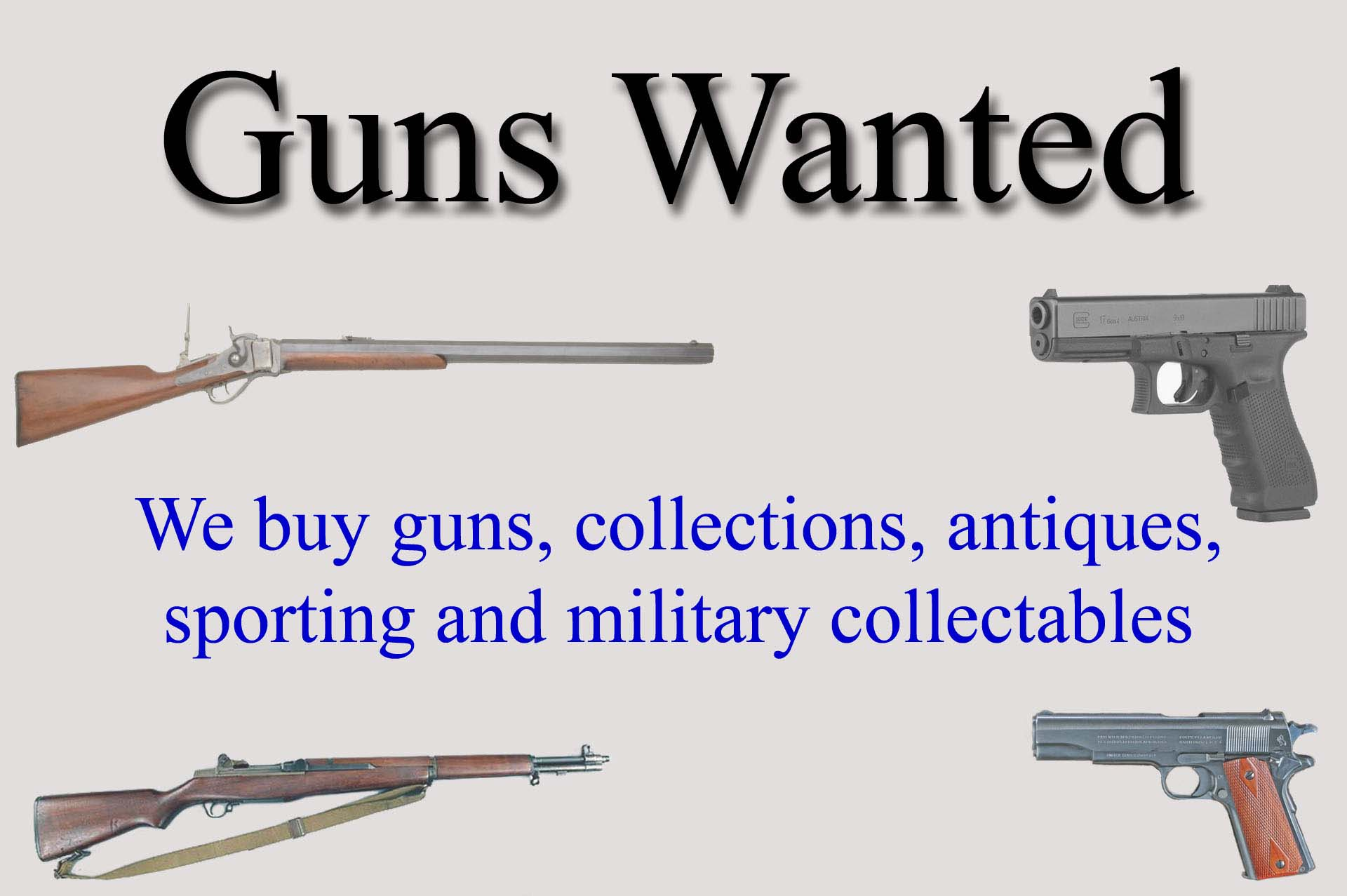 We Buy Guns & Collections Germantown & Milwaukee